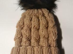 Объемная шапочка спицами: видеоурок. Ярмарка Мастеров - ручная работа, handmade.