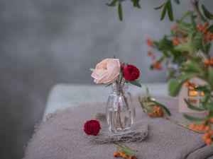 Пионовидная роза из фоамирана/ Видео мастер-класс. Ярмарка Мастеров - ручная работа, handmade.