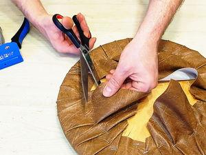 Как перетянуть табурет: простой способ обновить интерьер. Ярмарка Мастеров - ручная работа, handmade.