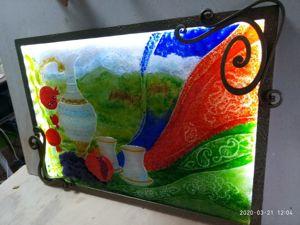 Монтаж витражной картины на раму с диодом. Ярмарка Мастеров - ручная работа, handmade.