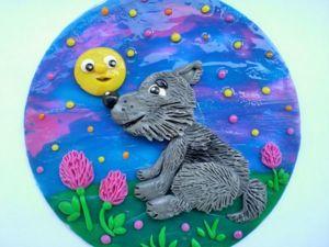 Делаем вместе с детьми панно «Серенький волчок». Ярмарка Мастеров - ручная работа, handmade.