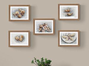 Моя концепция для серии из пяти натюрмортов. Ярмарка Мастеров - ручная работа, handmade.