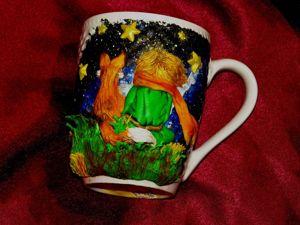 Маленький принц: декорируем кружку полимерной глиной. Ярмарка Мастеров - ручная работа, handmade.