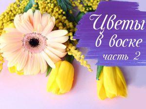 Больше не нужно выбрасывать цветы. Продлеваем жизнь цветам, часть вторая. Тюльпан, гербера и мимоза. Ярмарка Мастеров - ручная работа, handmade.