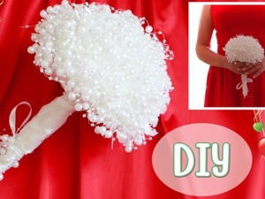 Как сделать свадебный букет невесты из бусин. Ярмарка Мастеров - ручная работа, handmade.