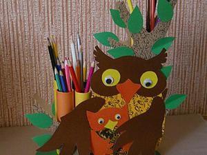 """Делаем карандашницу """"Сова с совёнком"""". Ярмарка Мастеров - ручная работа, handmade."""