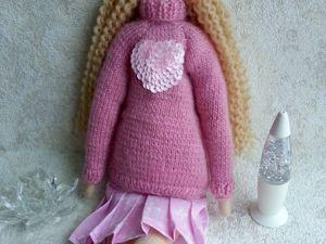 Тильда — Альпийская дачница в розовом свитере. Ярмарка Мастеров - ручная работа, handmade.