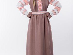 Платье Льняное Родные Берега. Ярмарка Мастеров - ручная работа, handmade.