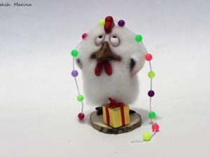 Валяем петушка с новогодним настроением. Ярмарка Мастеров - ручная работа, handmade.