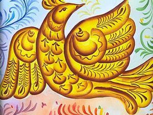 Вазы и птицы в харовской росписи. Ярмарка Мастеров - ручная работа, handmade.