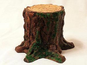 Мастерим настоящий лесной пень из подручных материалов. Ярмарка Мастеров - ручная работа, handmade.