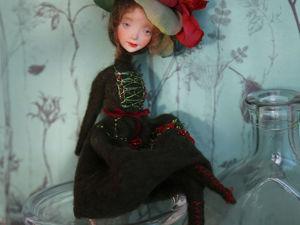 Авторская кукла с цветком на голове. Ярмарка Мастеров - ручная работа, handmade.