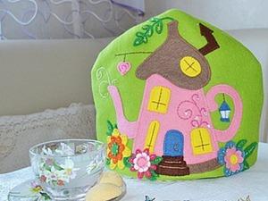 Мастерим весёлую грелку на чайник из фетра «Home, sweet home». Ярмарка Мастеров - ручная работа, handmade.
