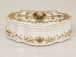 Шкатулка для украшений  «Камея в золотом» . Ручная работа. Ярмарка Мастеров - ручная работа, handmade.