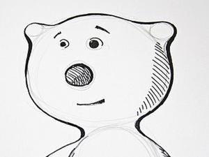 Учимся рисовать медвежонка за 15 минут. Ярмарка Мастеров - ручная работа, handmade.