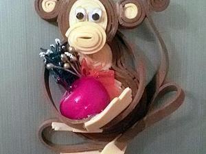 Делаем новогоднюю обезьянку-магнит. Ярмарка Мастеров - ручная работа, handmade.