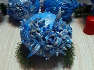 Изготовление новогоднего шара. Ярмарка Мастеров - ручная работа, handmade.