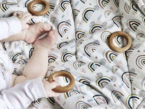 Детское одеяло с принтом радуга. Ярмарка Мастеров - ручная работа, handmade.