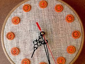 Часы в стиле Hoop art. Ярмарка Мастеров - ручная работа, handmade.
