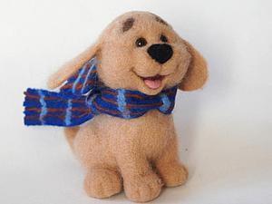 Валяем веселого щенка. Ярмарка Мастеров - ручная работа, handmade.