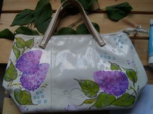 Расписываем сумку «Сирень» акриловыми краскаим. Ярмарка Мастеров - ручная работа, handmade.