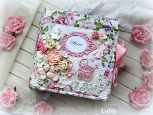 Альбом для девочки с коробочкой для хранения. Ярмарка Мастеров - ручная работа, handmade.
