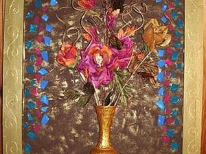 """Делаем объемный коллаж """"Ваза цветов"""". Ярмарка Мастеров - ручная работа, handmade."""