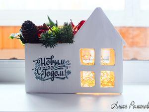 Новогодний домик своими руками из простых материалов. Ярмарка Мастеров - ручная работа, handmade.