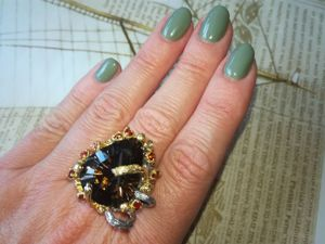 Видео кольцо  «Миледи»  с раухтопазом. Ярмарка Мастеров - ручная работа, handmade.