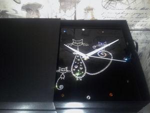 Часы  «Котейки». Ярмарка Мастеров - ручная работа, handmade.