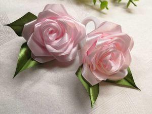 Создаем бутон розы из атласной ленты. Ярмарка Мастеров - ручная работа, handmade.