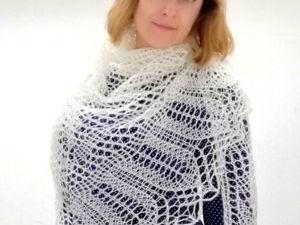 Как вязать треугольные шали спицами. Урок 3. Ярмарка Мастеров - ручная работа, handmade.