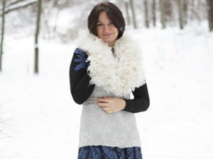 Чудо-зима: серебряная сказка. Валяем жилет с кардочесом и воротником из флиса. Ярмарка Мастеров - ручная работа, handmade.