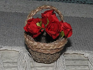 Создаем миниатюрную корзинку для цветов. Ярмарка Мастеров - ручная работа, handmade.