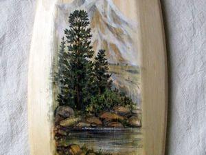 Пишем акварельный пейзаж на кедре. Ярмарка Мастеров - ручная работа, handmade.