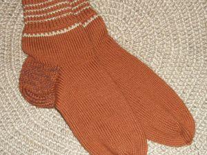 Приму заказы на вязаные мужские носки. Ярмарка Мастеров - ручная работа, handmade.