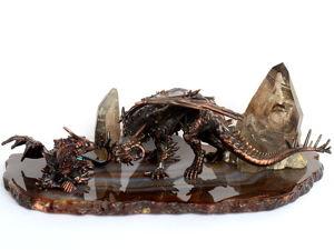 Семейный разговор — новая композиция с драконами в стиле фэнтези. Ярмарка Мастеров - ручная работа, handmade.