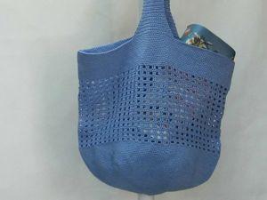 Сумка-шоппер, сетка, пляжная сумка. Кому как хочется!. Ярмарка Мастеров - ручная работа, handmade.