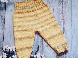 Вяжем детские штаны спицами от 0 до 2 лет. Ярмарка Мастеров - ручная работа, handmade.