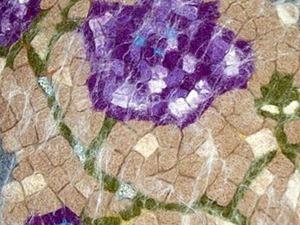 Сиденье для табурета в мозаичной технике своими руками. Ярмарка Мастеров - ручная работа, handmade.