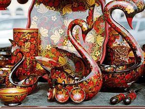 Хохлома: посуда, достойная царского стола. Ярмарка Мастеров - ручная работа, handmade.