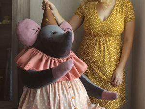 Самая большая работа-гигантский мышонок!. Ярмарка Мастеров - ручная работа, handmade.