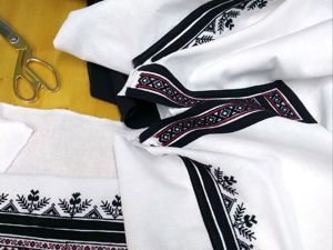 Рабочий момент: будущая женская рубаха Воронежской области. Ярмарка Мастеров - ручная работа, handmade.