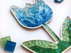 Как создать тюльпан из мозаики. Ярмарка Мастеров - ручная работа, handmade.