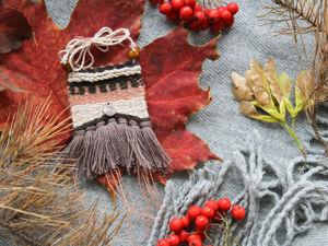 Weave Textile Pendant In Boho Style. Livemaster - handmade