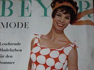 Beyer mode  6/1962 Бурда Моден. Ярмарка Мастеров - ручная работа, handmade.