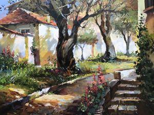 Пишем летний пейзаж масляными красками на холсте. Ярмарка Мастеров - ручная работа, handmade.