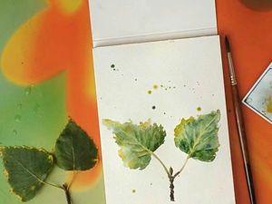 Видео мастер-класс: быстрая зарисовка осенних листочков. Ярмарка Мастеров - ручная работа, handmade.