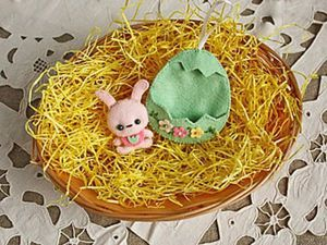 Felt Crafting: Easter Bunny in an Eggshell House. Livemaster - handmade