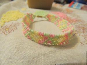 Плетем из бисера ажурный браслет. Ярмарка Мастеров - ручная работа, handmade.